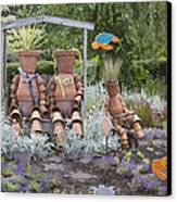 A Marine Garden Area In The Childrens Canvas Print