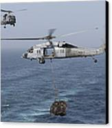 A Mh-60s Knighthawk Transfers Cargo Canvas Print by Gert Kromhout