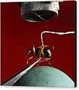 A Microphone Triggers A Flash Canvas Print by James P. Blair