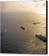 A Multi-national Naval Force Navigates Canvas Print by Stocktrek Images