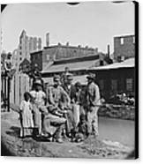 A Newly Freed African American Group Canvas Print by Everett