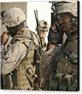 A Radio Operator Helps A Platoon Canvas Print by Stocktrek Images