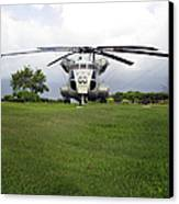 A Rh-53d Sea Stallion Helicopter Canvas Print by Michael Wood