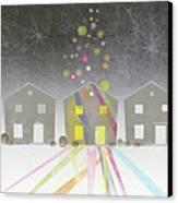 A Row Of Houses Canvas Print by Jutta Kuss