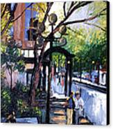 A Saturday Stroll  Canvas Print