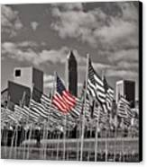 A Sea Of #flags During #marineweek Canvas Print by Pete Michaud