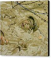 A Seabee Emerges From Muddy Water Canvas Print by Stocktrek Images
