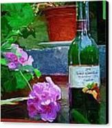 A Sip Of Wine Canvas Print by Amanda Moore