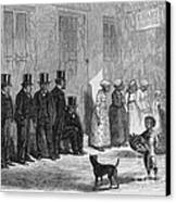 A Slave-pen At New Orleans Before Canvas Print