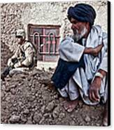 A Soldier Collects Information Canvas Print by Stocktrek Images