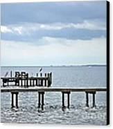 A Stormy Day On The Pamlico River Canvas Print by Joan Meyland