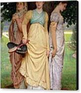 A Summer Shower Canvas Print by Charles Edward Perugini
