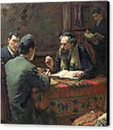 A Theological Debate Canvas Print by Eduard Frankfort