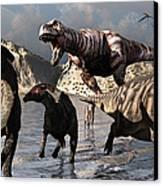 A Tyrannosaurus Rex Moves Canvas Print by Mark Stevenson