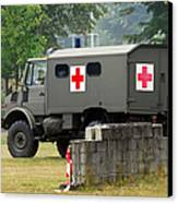 A Unimog In An Ambulance Version In Use Canvas Print