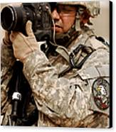 A U.s. Air Force Combat Cameraman Canvas Print by Stocktrek Images