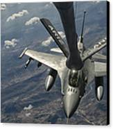A U.s. Air Force F-16c Block 50 Canvas Print by Giovanni Colla