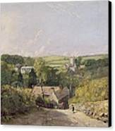 A View Of Osmington Village With The Church And Vicarage Canvas Print