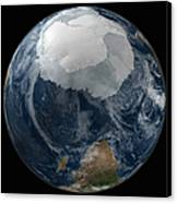 A View Of The Earth With The Full Canvas Print by Stocktrek Images