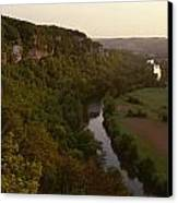 A View Of The Vezere River Valley Canvas Print by Kenneth Garrett