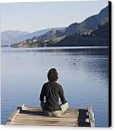 A Woman Enjoys Yoga And Relaxation Canvas Print by Taylor S. Kennedy