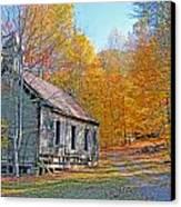 Abandoned Church Canvas Print by Alan Lenk