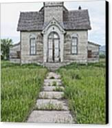 Abandoned Countryside Church Canvas Print
