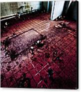 Abandoned Locker Room Canvas Print by Christopher Kulfan