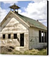 Abandoned Rural School House Canvas Print