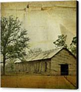 Abandoned Tobacco Barn Canvas Print by Carla Parris