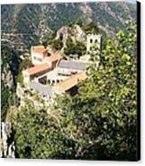 Abbey St Martin Du Canigou France Canvas Print by Marilyn Dunlap