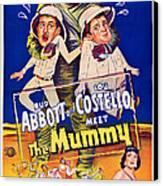 Abbott And Costello Meet The Mummy Canvas Print by Everett