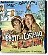 Abbott And Costello Meet The Mummy, Lou Canvas Print