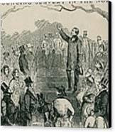 Abolitionist Wendell Phillips Speaking Canvas Print by Everett