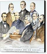 Abraham Lincolns Cabinet Canvas Print by Granger