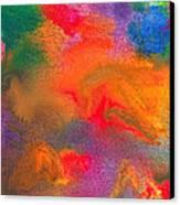 Abstract - Crayon - Melody Canvas Print by Mike Savad