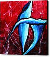Abstract Calla Lilly Textured Painting Greeting Lillies By Madart Canvas Print by Megan Duncanson