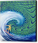 Abstract Computer Artwork Of Surfing The Internet Canvas Print by Laguna Design