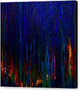 Abstract Evergreens Canvas Print by Claire Bull