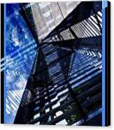 Abstract In Blue And Cement Canvas Print by Matthew Green
