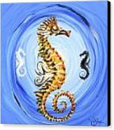 Abstract Sea Horse Canvas Print by J Vincent Scarpace