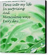 Abundance Affirmation Canvas Print