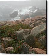 Acadia National Park Foggy Coast Canvas Print by Chris Hill