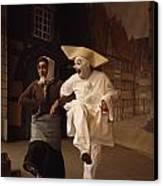 Actors Perform Pantomimes At Tivoli Canvas Print by Sisse Brimberg