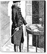 Adam Smith, Scottish Philosopher & Canvas Print