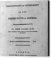 Adams: Title Page, 1787 Canvas Print by Granger