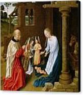 Adoration Of The Christ Child  Canvas Print