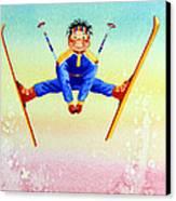 Aerial Skier 17 Canvas Print by Hanne Lore Koehler