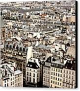 Aerial View Of Paris Canvas Print by Landscape and urban landscape