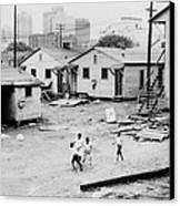 African American Children Playing Canvas Print